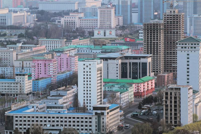 Phyongyang w Północnym Korea zdjęcie stock