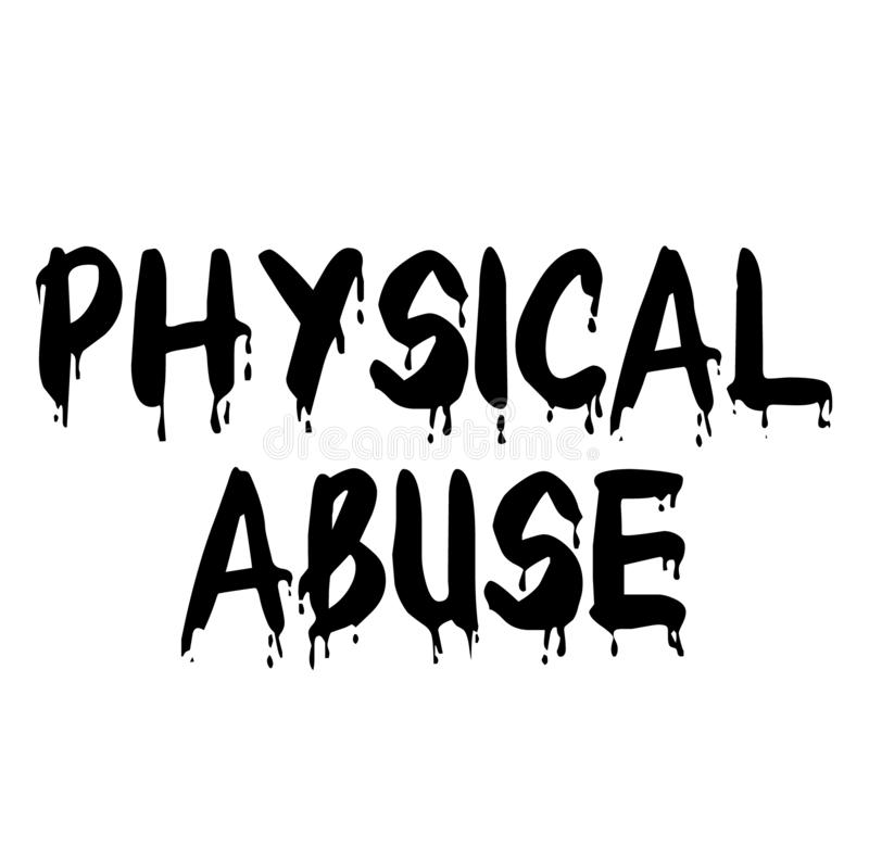 PHYSICAL ABUSE stamp on white background royalty free illustration