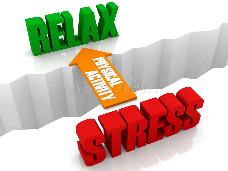 Download Physical Activity Is The Bridge From STRESS To RELAX. Stock Illustration - Image: 30693805