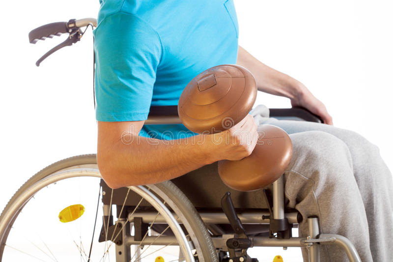 Physical activity of disabled person royalty free stock photos