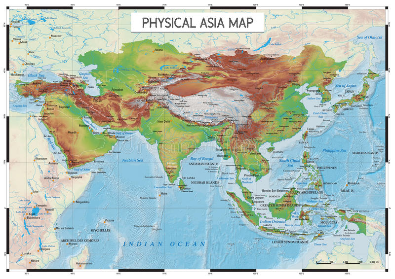 river courses names of the main geographical features on earth and see information is classified by layers it is perfect for big murals asia