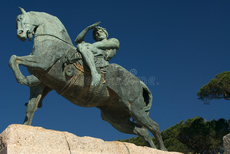 Physical Energy Statue royalty free stock photography