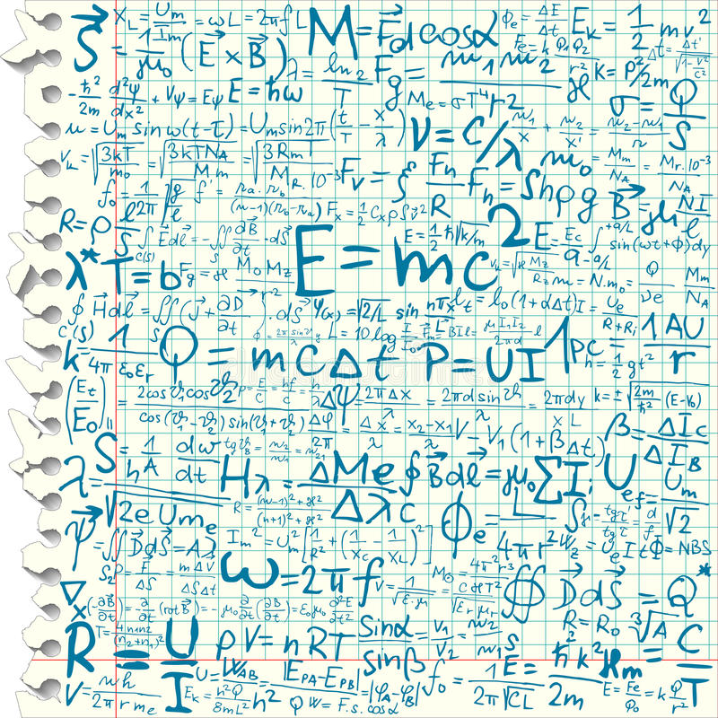 Free Physical Equations Royalty Free Stock Image - 15215786