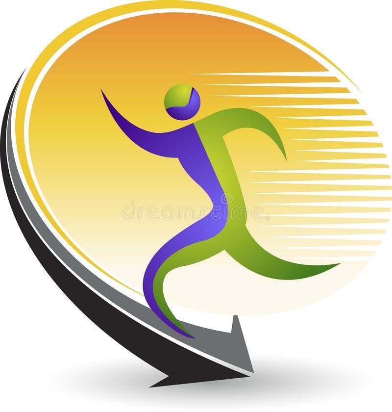 Physical exercise logo. Illustration art of a physical exercise logo with background stock illustration