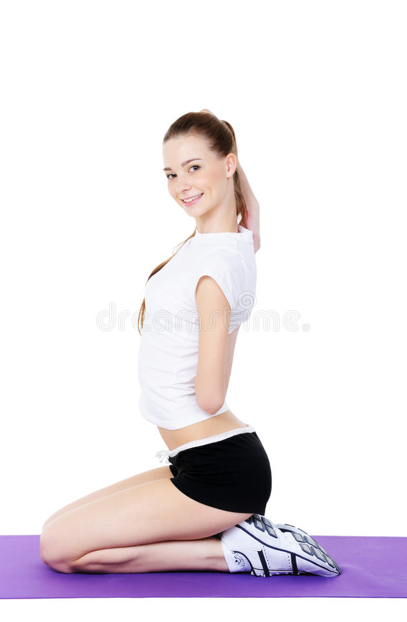 Download Physical exercises 2 stock image. Image of shape, studio - 8843013