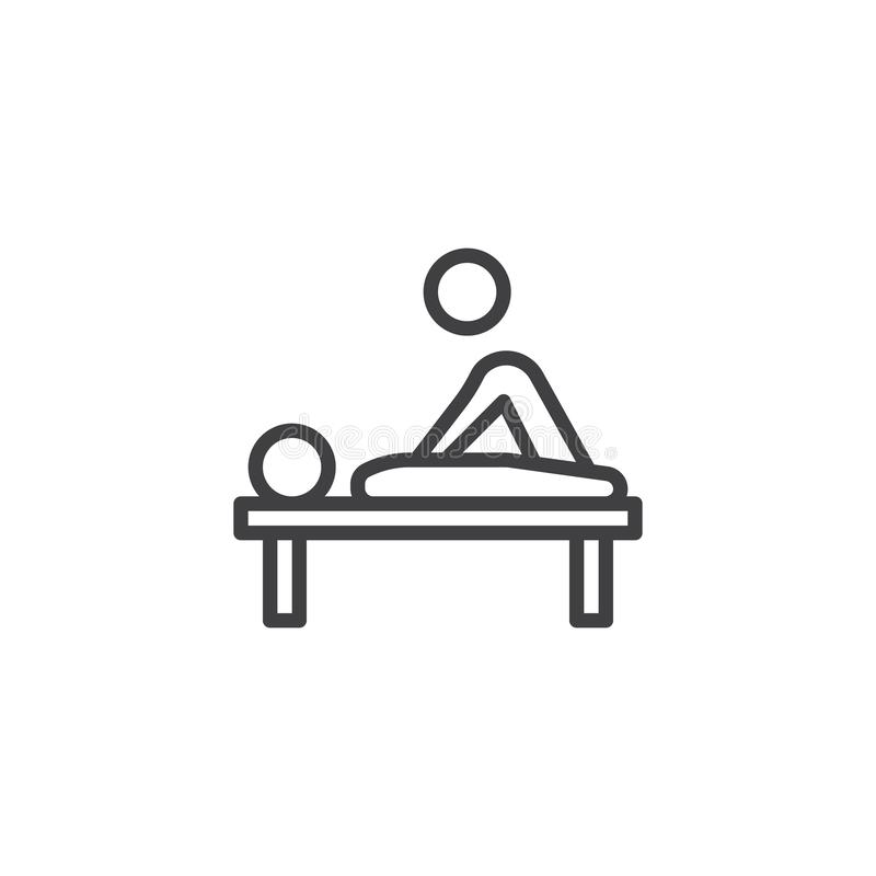 Physical medicine line icon vector illustration