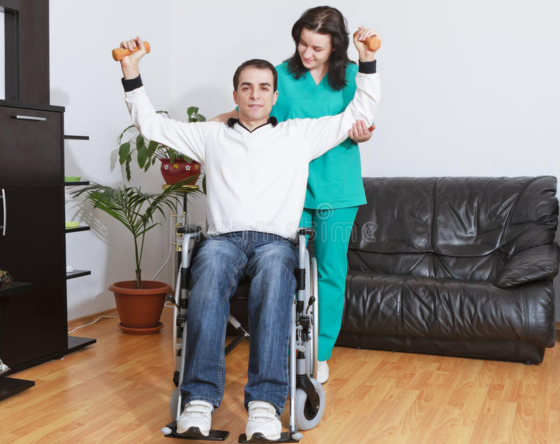 Download Physical Therapist Working With Patient Stock Photo - Image: 24167390