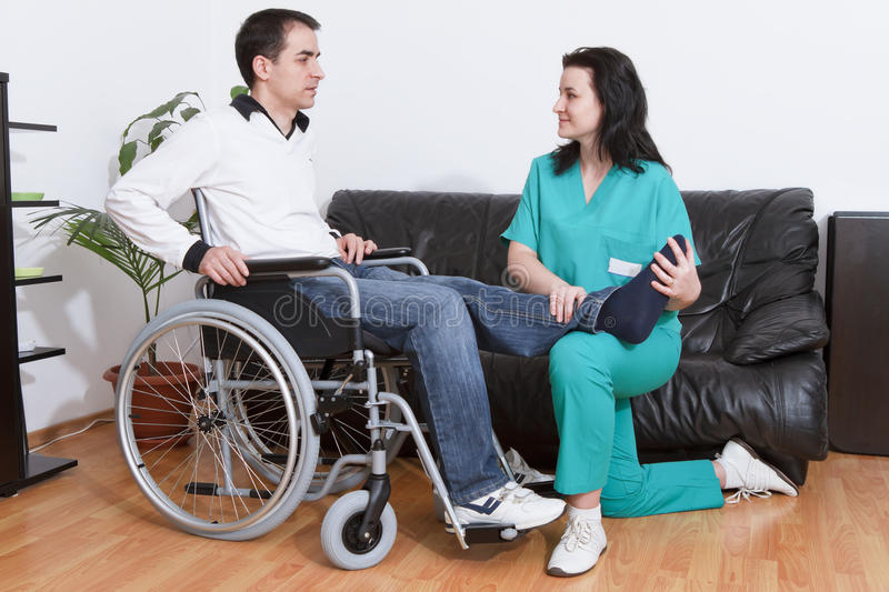 Download Physical Therapist Working With Patient Stock Image - Image: 24167441