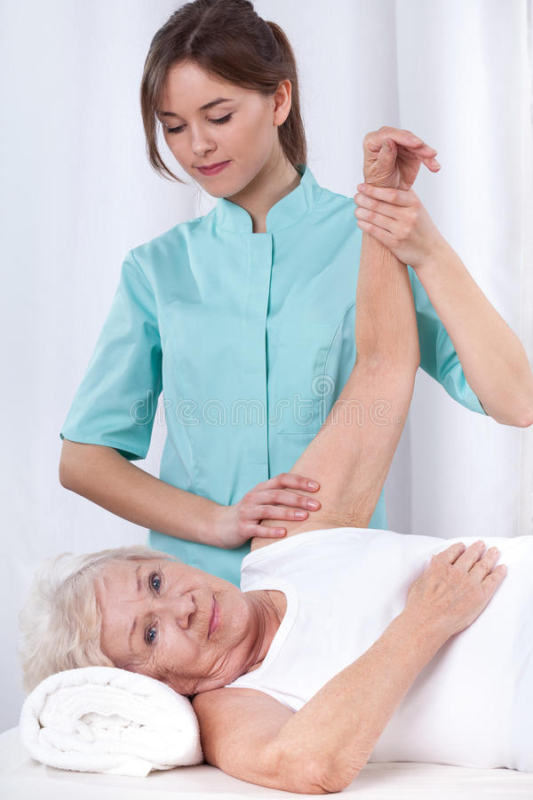 Physical therapy for arm royalty free stock image