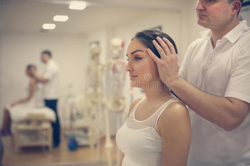 Physical therapy. royalty free stock photography