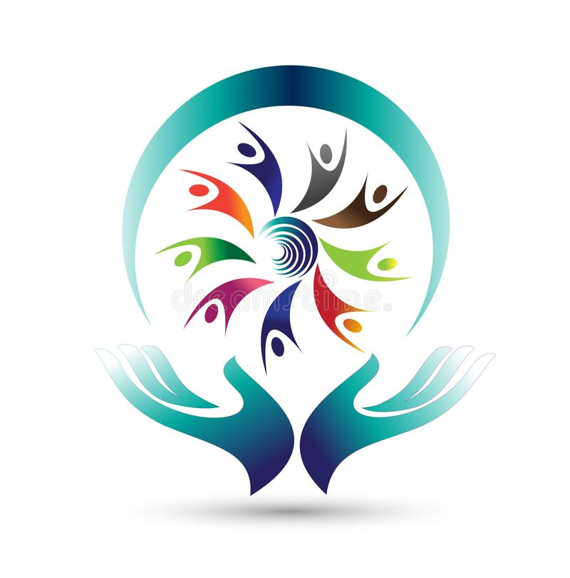 Physical therapy logo on white back ground. royalty free illustration