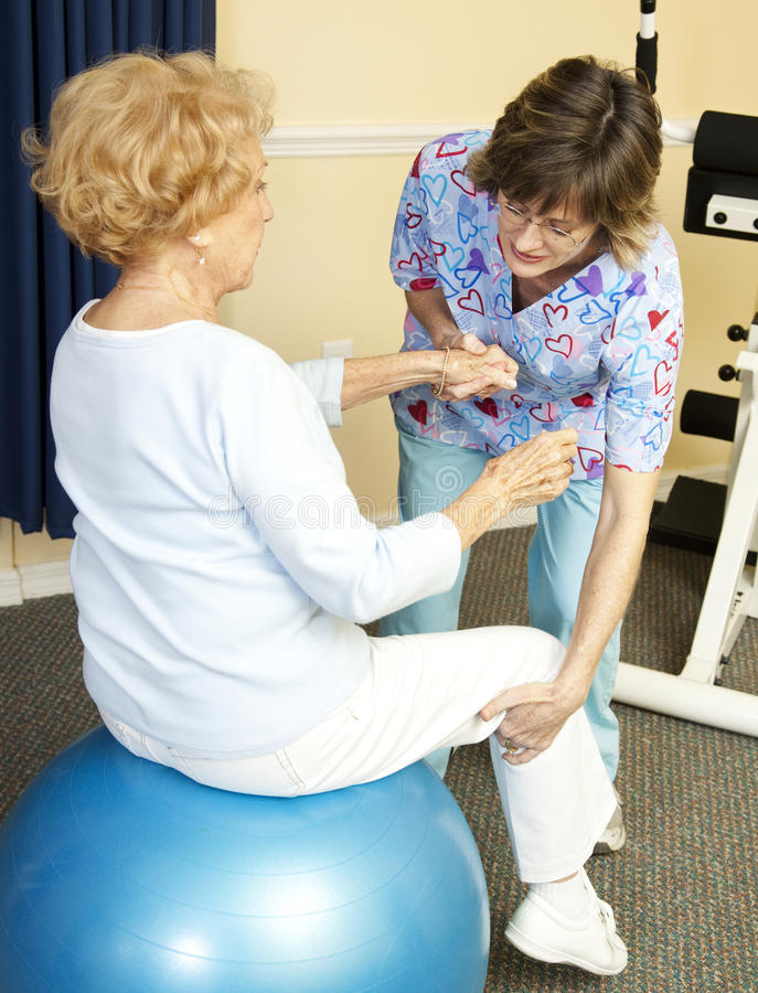 Download Physical Therapy With Yoga Ball Stock Image - Image: 14389071