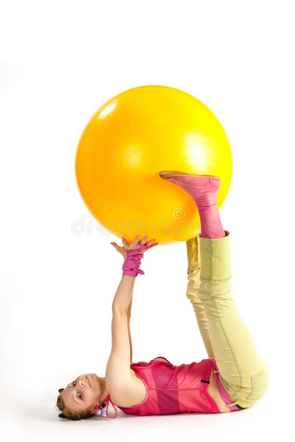 Download Physical training stock photo. Image of ball, exercises - 10834522