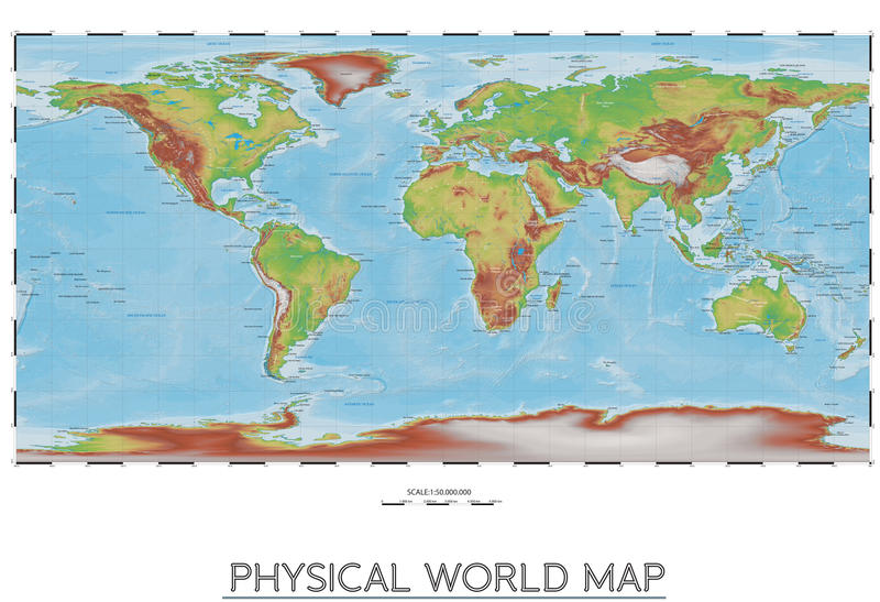 Physical world map stock vector illustration of physical 80856817 download physical world map stock vector illustration of physical 80856817 gumiabroncs Choice Image