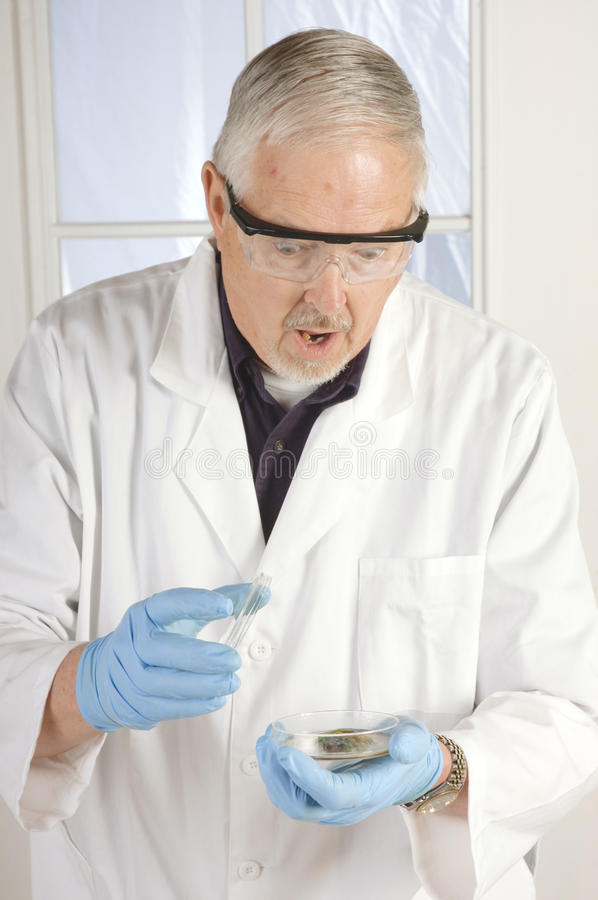 Physician in shock stock photo