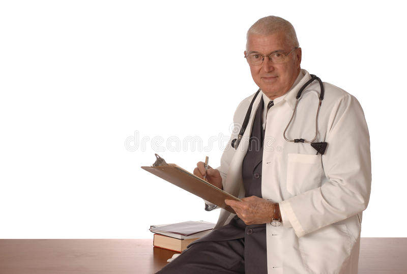 Physician on white royalty free stock images