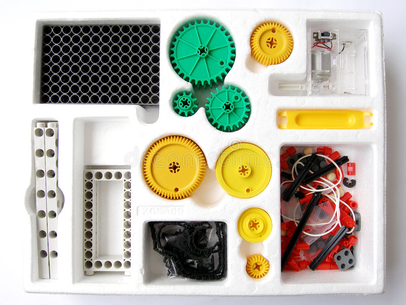 Physics assembling toy kit royalty free stock photography