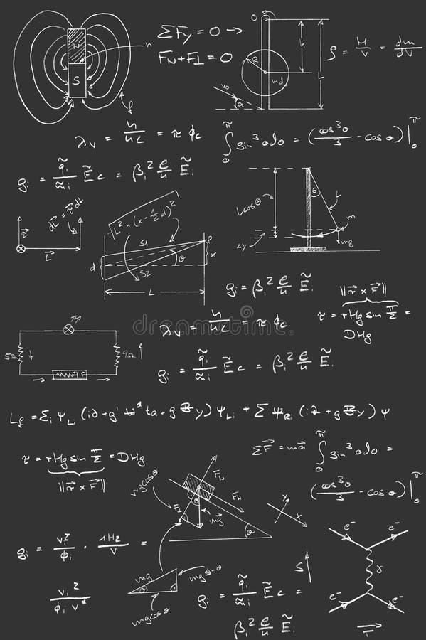Download Physics Diagrams And Formulas Stock Illustration - Image: 27375777
