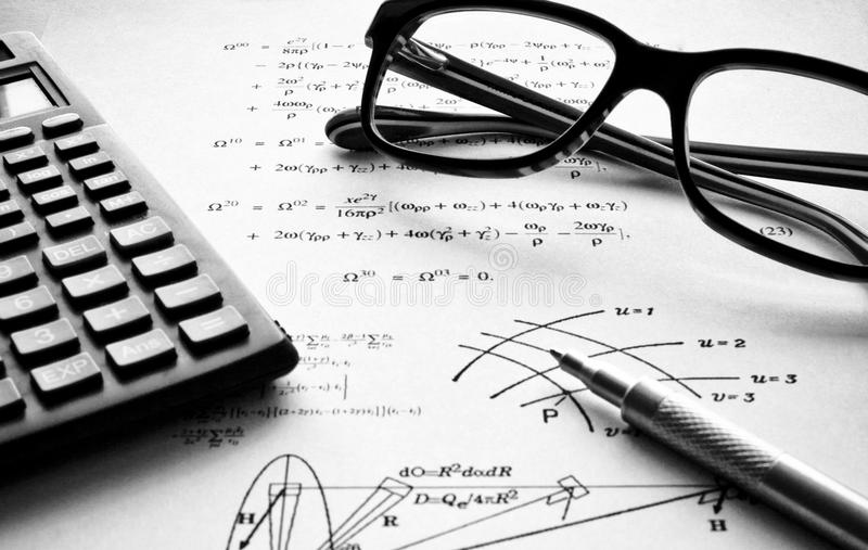 Download Physics Exercises Black And White Stock Image - Image: 15784119