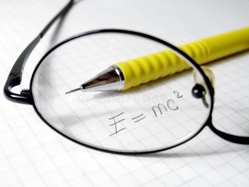 Physics formula royalty free stock photo