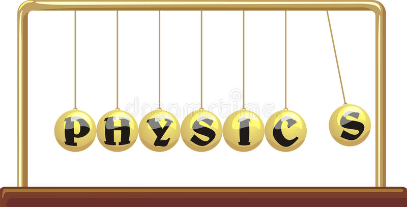 Physics - newton`s cradle vector illustration