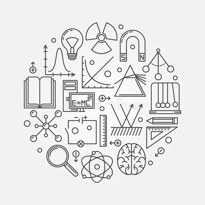 physics round illustration stock vector  image of object