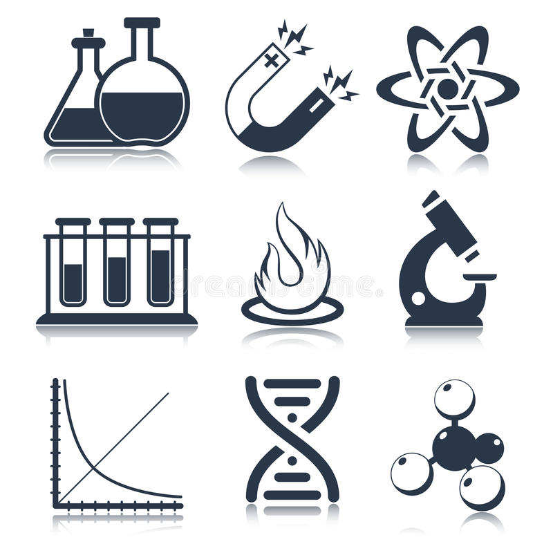 Download Physics Science Icons Stock Vector Illustration Of Research