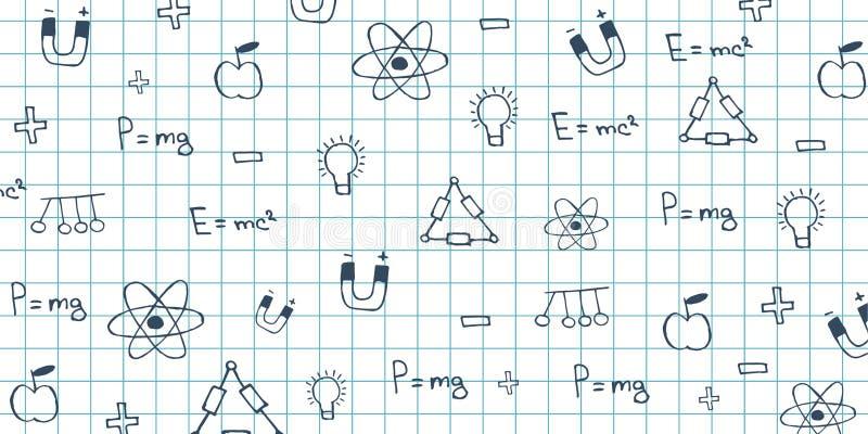 Physics temat tylna tło do szkoły Edukacja sztandar ilustracji