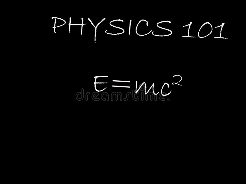 Physik 101 lizenzfreie abbildung