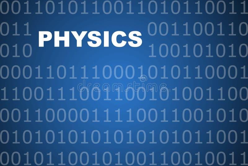 Physik-abstrakter Hintergrund lizenzfreie abbildung