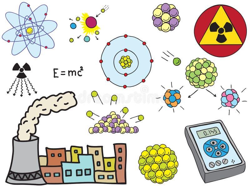 Physik - atomaratomenergie lizenzfreie abbildung