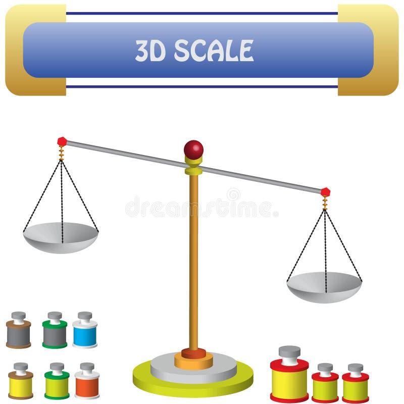 Physik - Waage und Gewicht 02 vektor abbildung