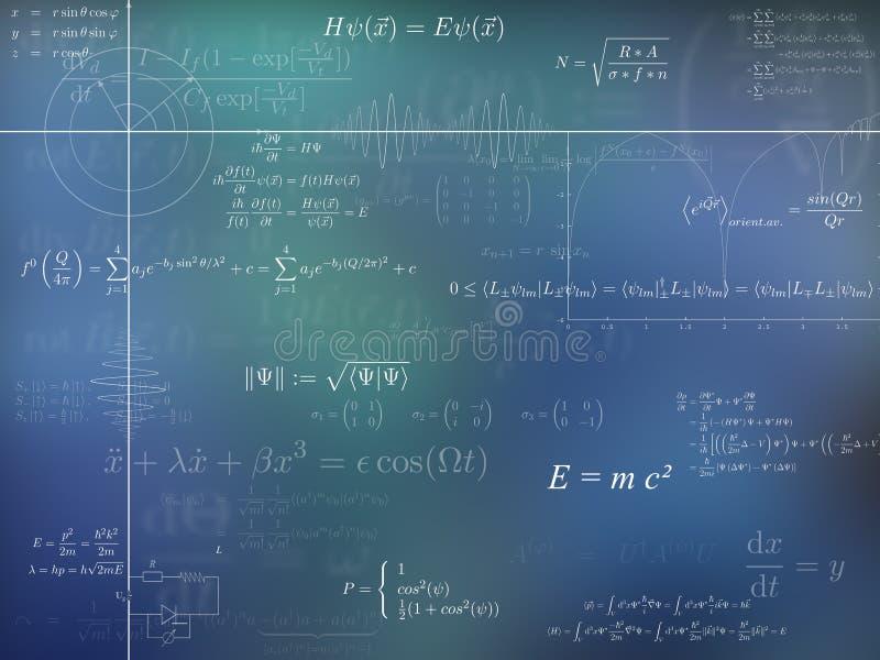 Physikhintergrund stock abbildung