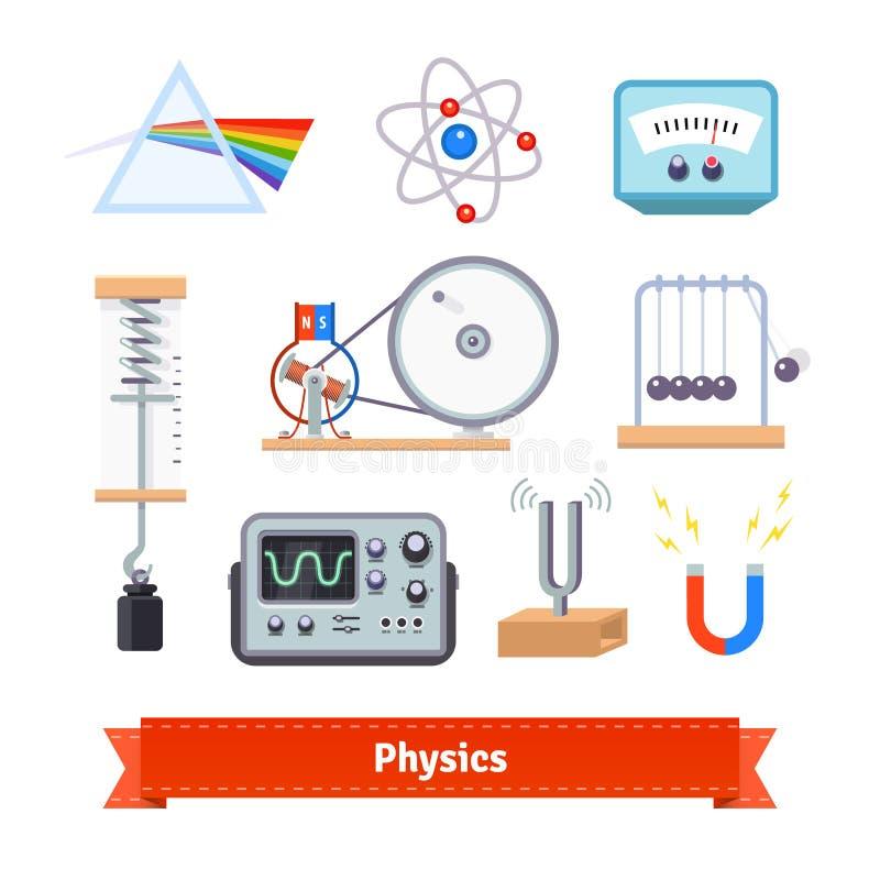 Physikklassenzimmerausrüstung lizenzfreie abbildung