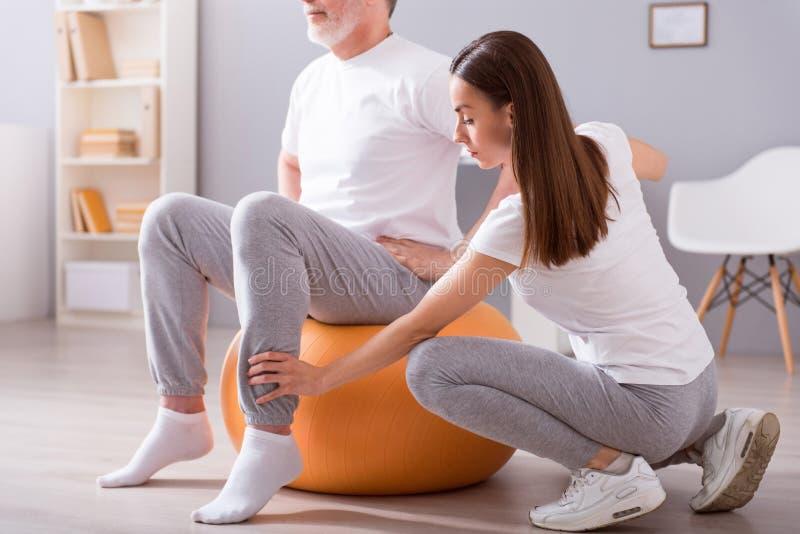 Physiothérapie moderne de réadaptation image libre de droits