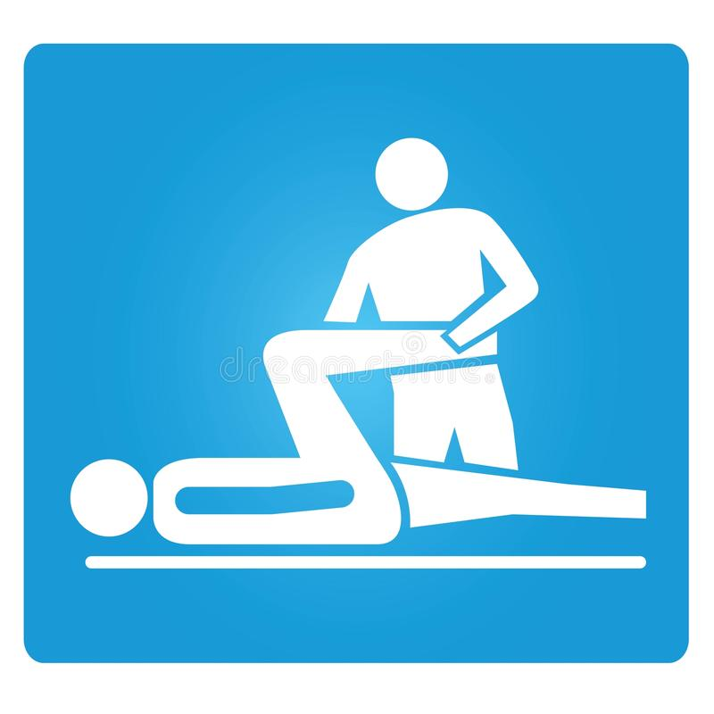 Physiotherapie lizenzfreie abbildung