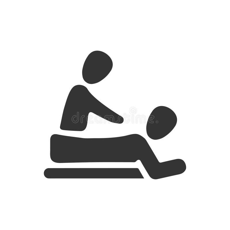 Physiotherapie-Ikone vektor abbildung