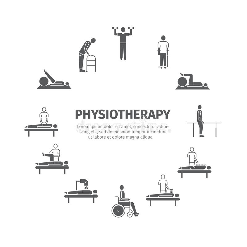 Physiotherapie, Rehabilitationszentrum stockfotografie