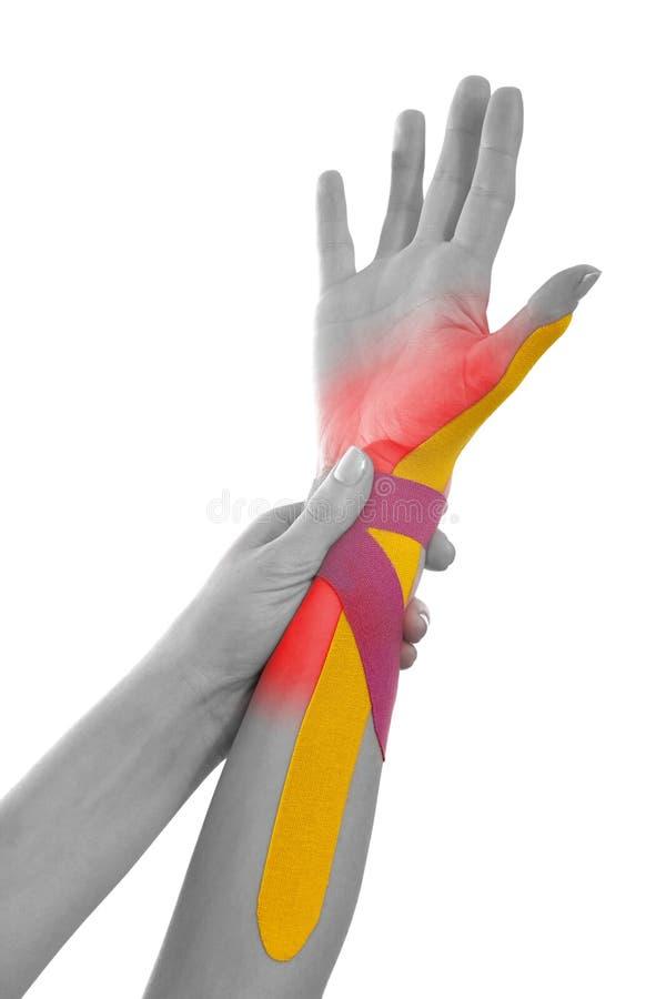 Physiotherapieband lokalisiert auf Weiß. lizenzfreies stockbild