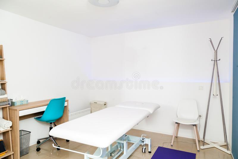 Physiotherapy clinic interior royalty free stock image