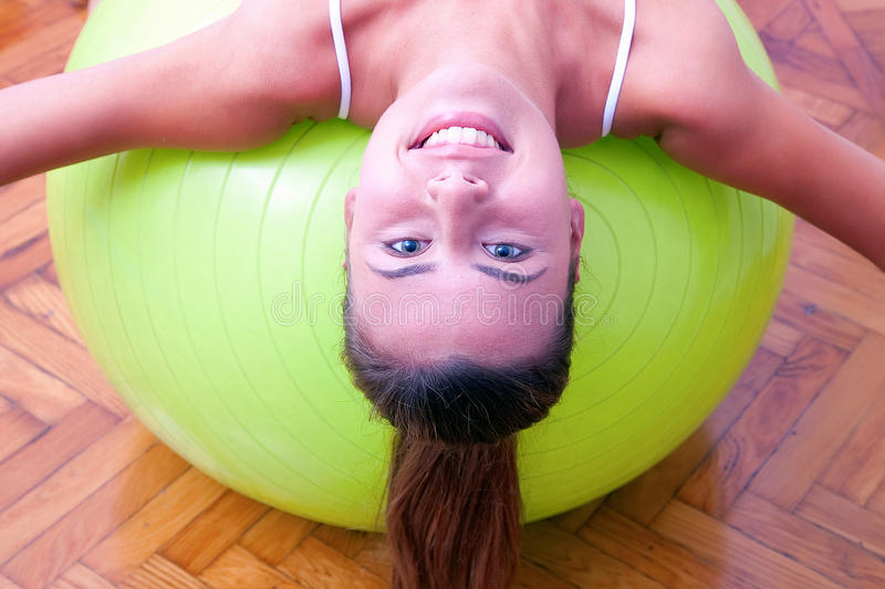 Download Physiotherapy Exercises With Bobath Ball Fitball Stock Photo - Image: 30779922