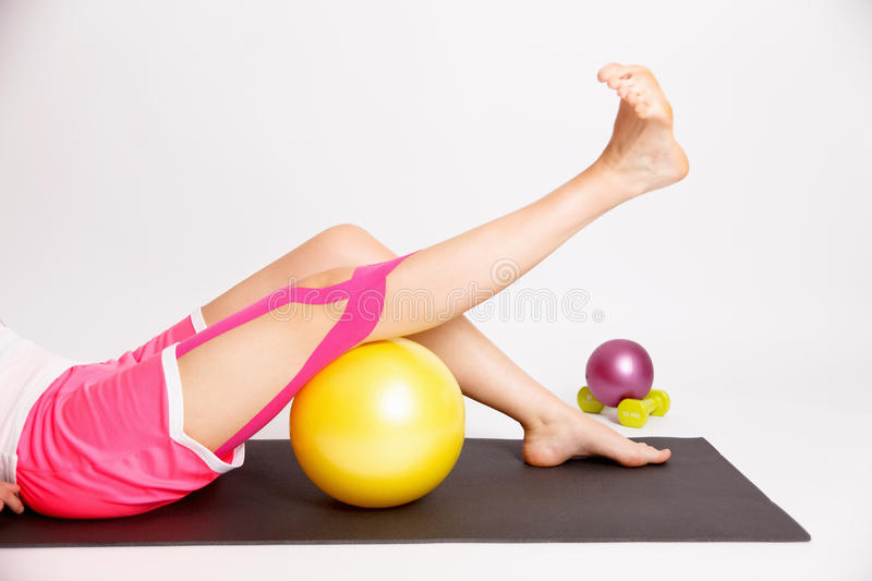 Physiotherapy treatment for knee royalty free stock images