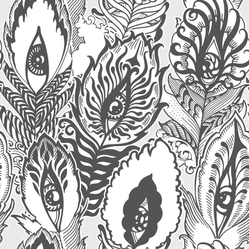 Piórkowy bałaganu wzór ilustracji
