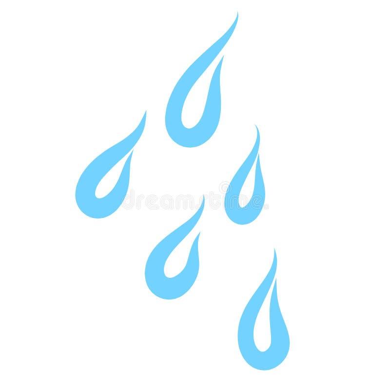 Pięć błękitnych kropel woda, elegancki abstrakta wzór royalty ilustracja