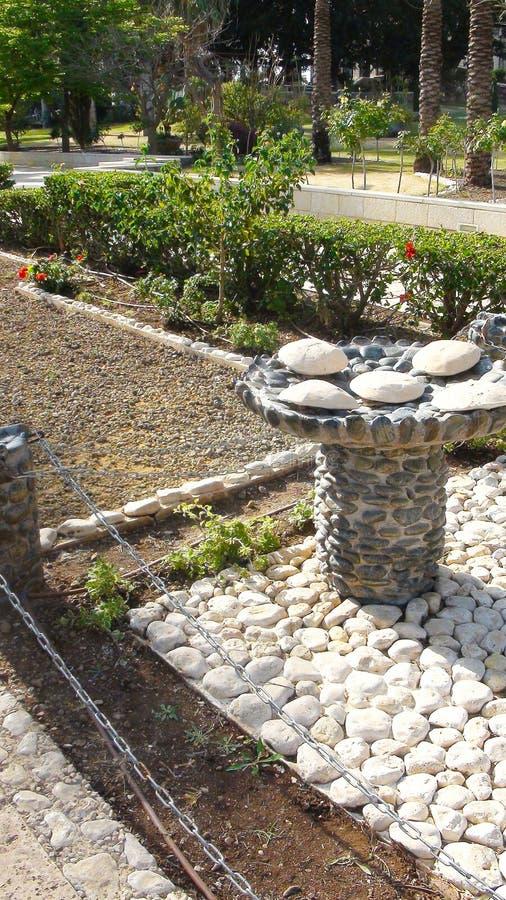 Pięć chlebów dekorujących kamień Góra błogosławieństwa, Capernaum fotografia royalty free