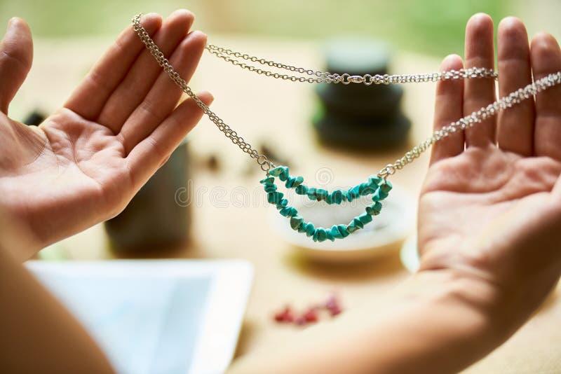 Piękna handmade kolia zdjęcia royalty free