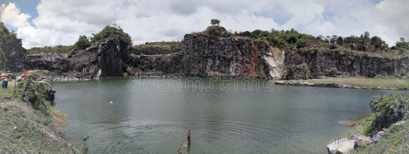 Piękna i naturalna Błękitna laguna w Recife, Brazylia zdjęcia stock