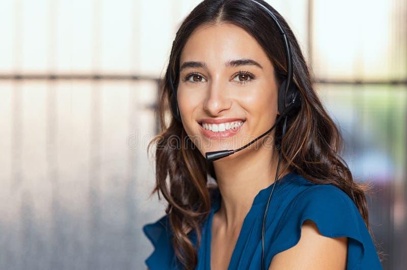 Piękny centrum telefoniczne konsultant obraz royalty free