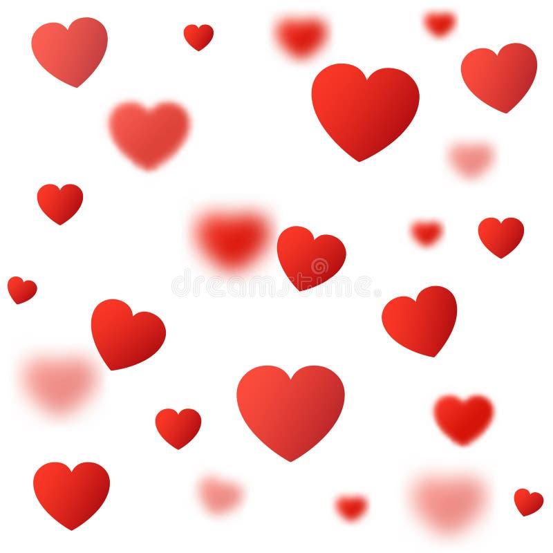 """Piękny czerwony serca tło z przejrzystego serca †""""wektorem ilustracja wektor"""