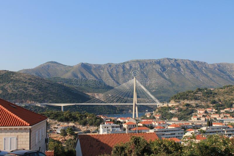 Piękny most w Dubrovnik Chorwacja zdjęcie stock